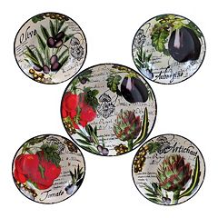Certified International Botanical Vegetables 5-pc. Pasta Serving Bowl Set