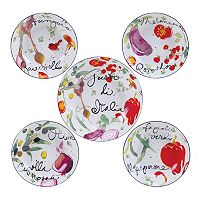 Certified International Melanzana 5 pc Pasta Serving Bowl Set