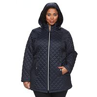 Plus Size Braetan Hooded Quilted Jacket