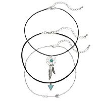 Mudd® Dream Catcher, Arrow & Triangle Choker Necklace Set