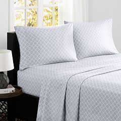 Madison Park 4 pc Fretwork Cotton Sheet Set
