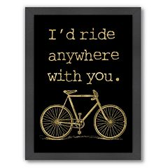Americanflat ''I'd Ride Anywhere'' Framed Wall Art
