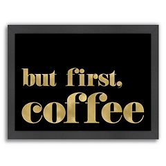 Americanflat ''But First Coffee'' Framed Wall Art