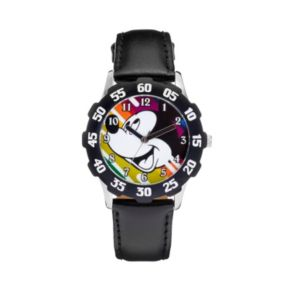 Disney's Mickey Mouse Boys' Leather Watch