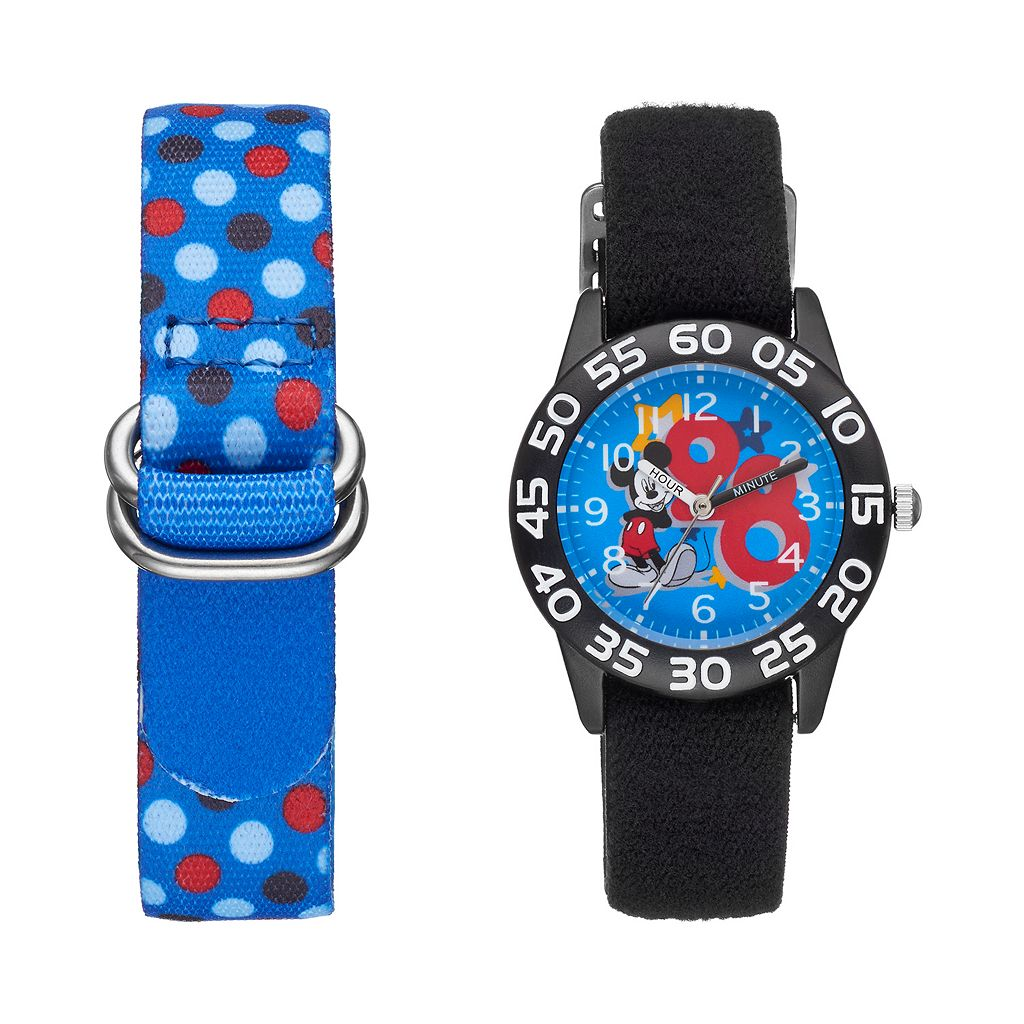 Disney's Mickey Mouse Boys' Time Teacher Watch & Interchangeable Band Set