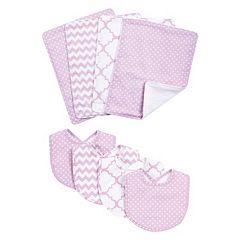 Trend Lab 8-pc. Printed Bib & Burp Cloth Set