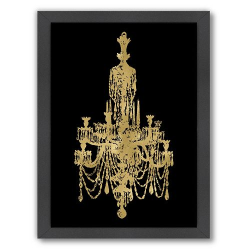 Americanflat Chandelier Framed Wall Art