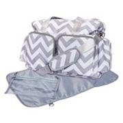 Trend Lab Chevron Deluxe Duffle Diaper Bag