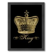 Americanflat 'King' Framed Wall Art by Amy Brinkman