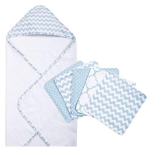 Trend Lab 6-pc. Chevron Hooded Towel & Washcloth Set