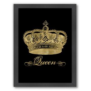 "Americanflat ""Queen"" Framed Wall Art by Amy Brinkman"