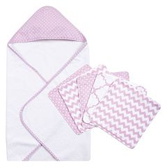 Trend Lab 6-pc. Polka-Dot Hooded Towel & Washcloth Set  by