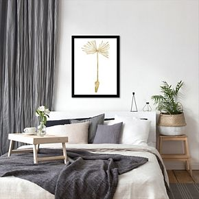 "Americanflat ""Dandelion 1"" Framed Wall Art by Amy Brinkman"
