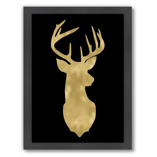 "Americanflat ""Deer Head Right Face"" Framed Wall Art by Amy Brinkman"