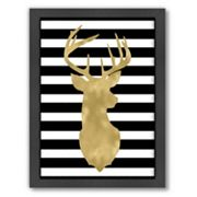 Americanflat 'Deer Head Right Face' Framed Wall Art by Amy Brinkman