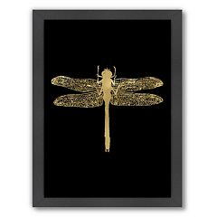 Americanflat 'Dragonfly' Framed Wall Art by Amy Brinkman