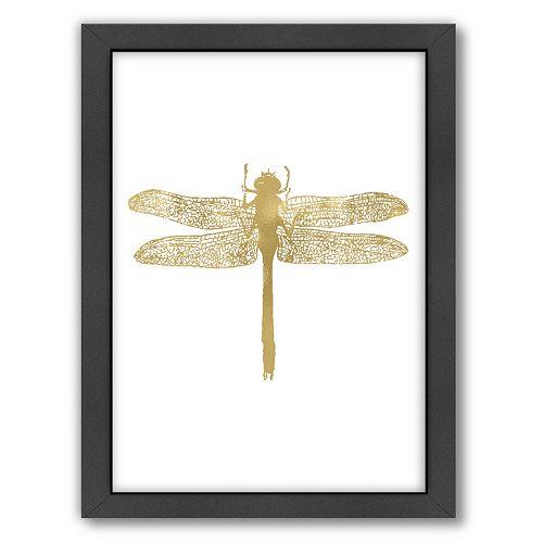 "Americanflat ""Dragonfly"" Framed Wall Art by Amy Brinkman"
