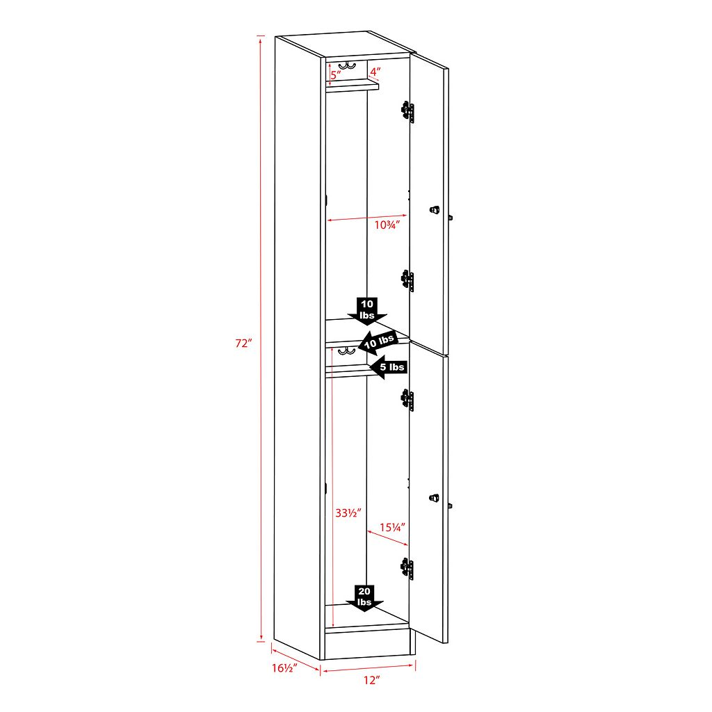 Prepac Elite Double Tier Storage Locker
