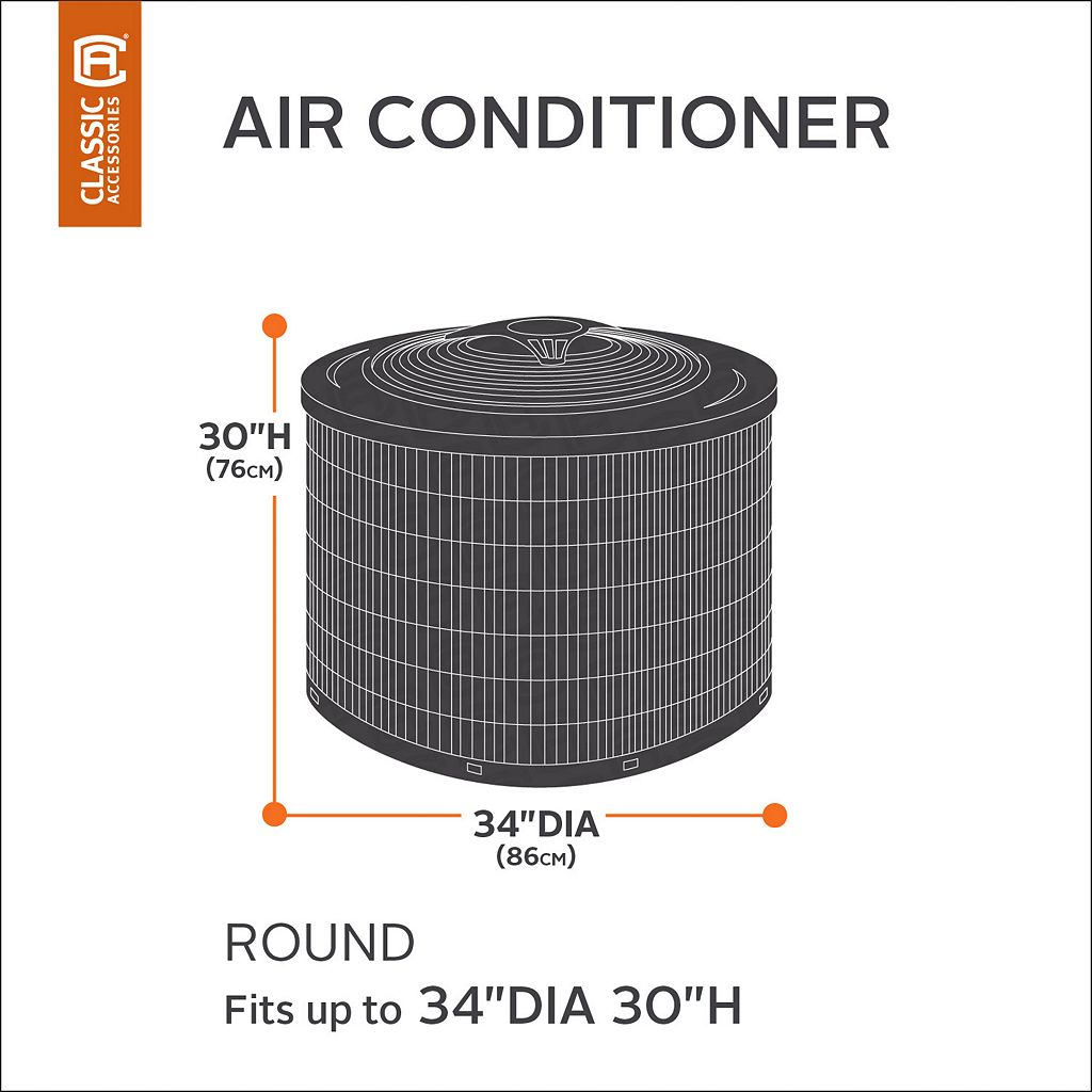 Classic Accessories Veranda Round Air Conditioner Cover