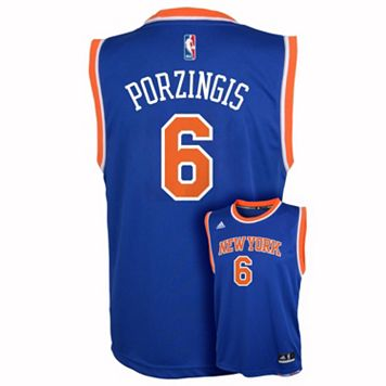 Boys 8-20 adidas New York Knicks Kristaps Porzingis Replica Jersey