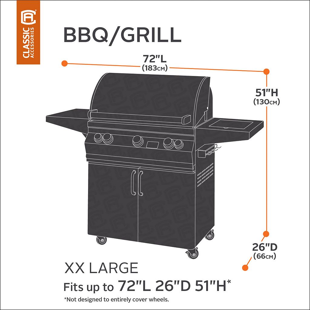Classic Accessories Ravenna XL Patio BBQ Grill Cover