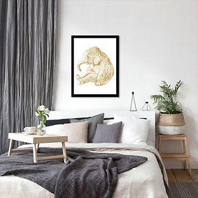 "Americanflat ""Baby Elephant"" Framed Wall Art by Amy Brinkman"