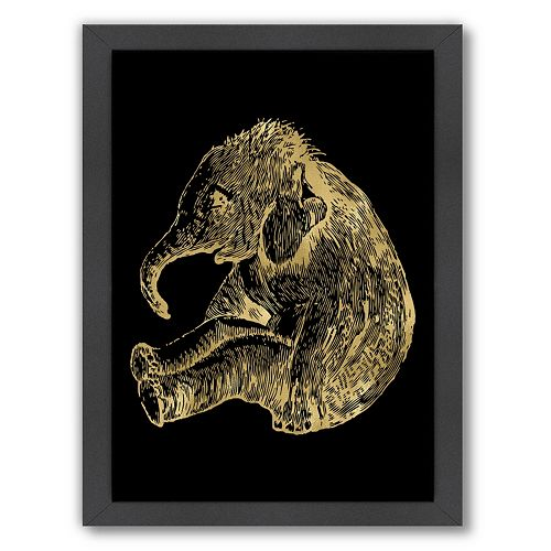 "Americanflat ""Baby Elephant"" Framed Wall Art by Amy Brinkman"