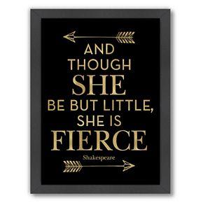 """Americanflat """"Fierce Shakespeare Arrows"""" Framed Wall Art by Amy Brinkman"""