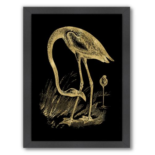 "Americanflat ""Flamingo 1"" Framed Wall Art by Amy Brinkman"
