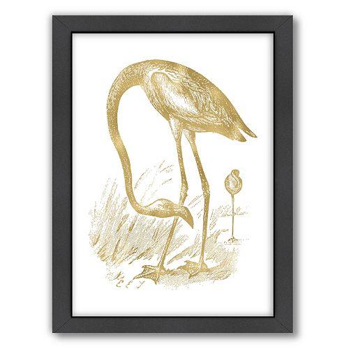 "Americanflat ""Flamingo 1"" Framed Wall Art by Amy Brinkman"