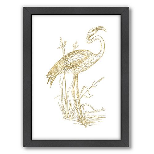"Americanflat ""Flamingo 2"" Framed Wall Art by Amy Brinkman"