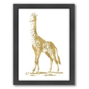 "Americanflat ""Giraffe"" Framed Wall Art by Amy Brinkman"