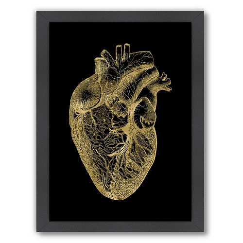 "Americanflat ""Anatomical Heart"" Framed Wall Art by Amy Brinkman"
