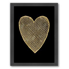 Americanflat 'Crosshatched Heart' Framed Wall Art by Amy Brinkman