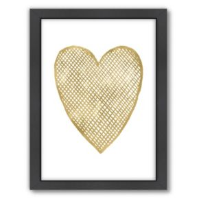 """Americanflat """"Crosshatched Heart"""" Framed Wall Art by Amy Brinkman"""