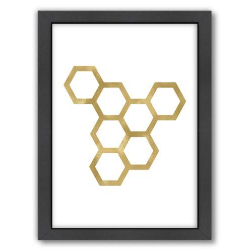 Americanflat Honeycomb Framed Wall Art