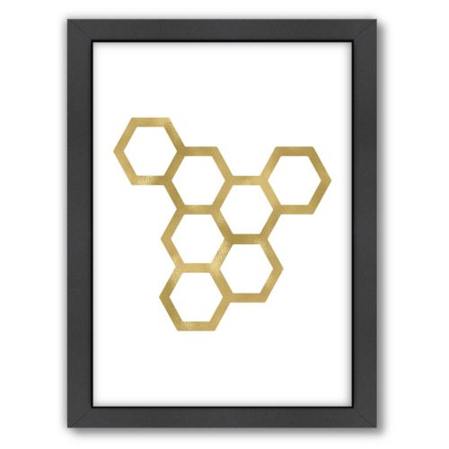 "Americanflat ""Honeycomb"" Framed Wall Art"
