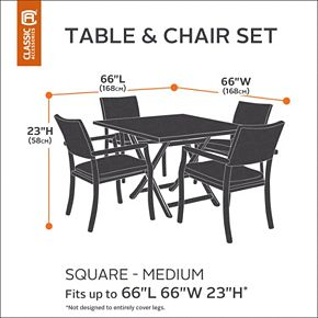 Classic Accessories Veranda Medium Square Patio Table & Chair Cover