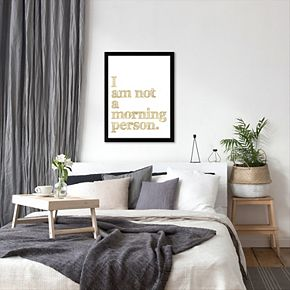 """Americanflat """"Not A Morning Person"""" Framed Wall Art"""
