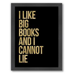 Americanflat 'I Like Big Books' Framed Wall Art