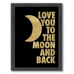 Americanflat 'Love You To The Moon' Framed Wall Art