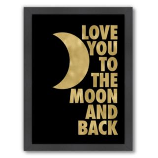 """Americanflat """"Love You To The Moon"""" Framed Wall Art"""