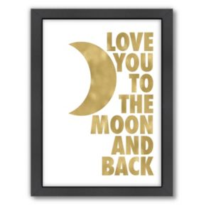 "Americanflat ""Love You To The Moon"" Framed Wall Art"
