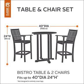 Classic Accessories Veranda Bistro Round Table & Two Chairs Cover