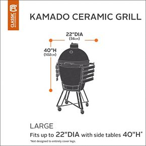 Classic Accessories Ravenna Large Kamado Ceramic Grill Cover