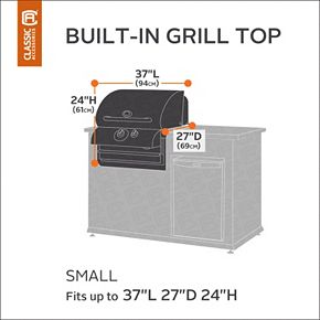 Classic Accessories Ravenna Patio Small Built-in Grill Top Cover