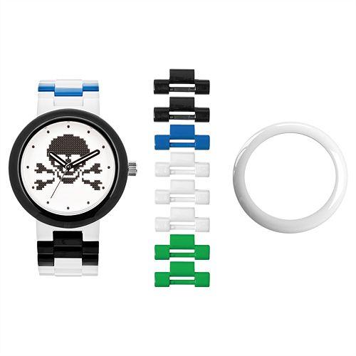 LEGO Unisex Skull Interchangeable Watch Set - LEGO-9007552