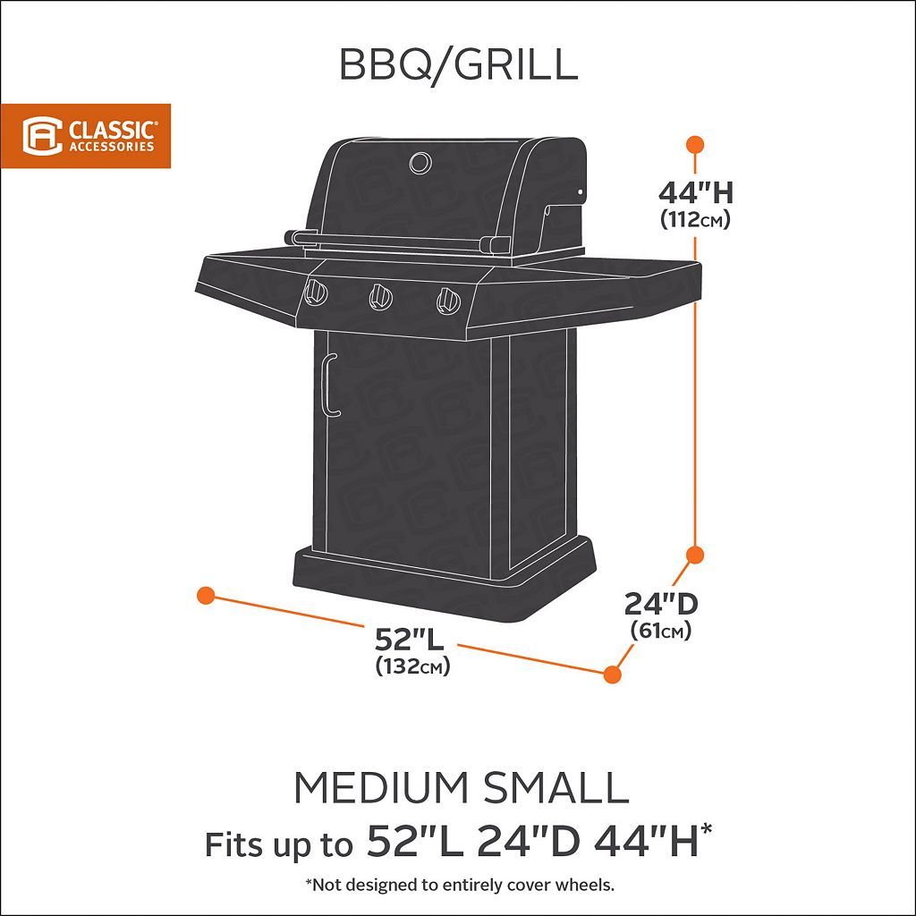 Classic Accessories Ravenna Patio Small Medium Grill Cover