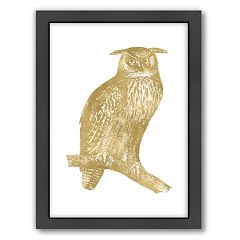 Americanflat 'Great Horned Owl' Framed Wall Art