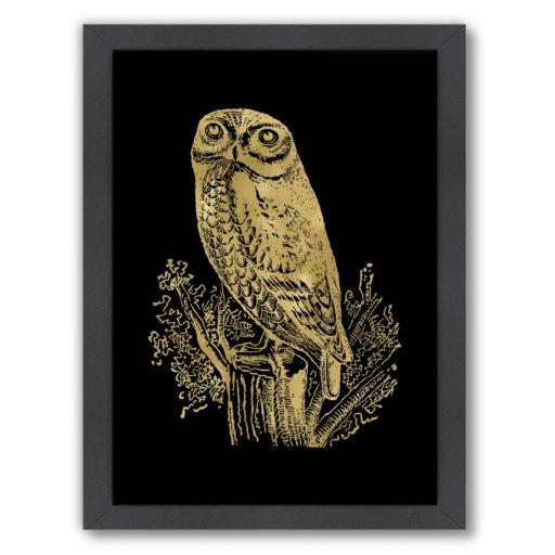 "Americanflat ""Owl Rock"" Framed Wall Art"